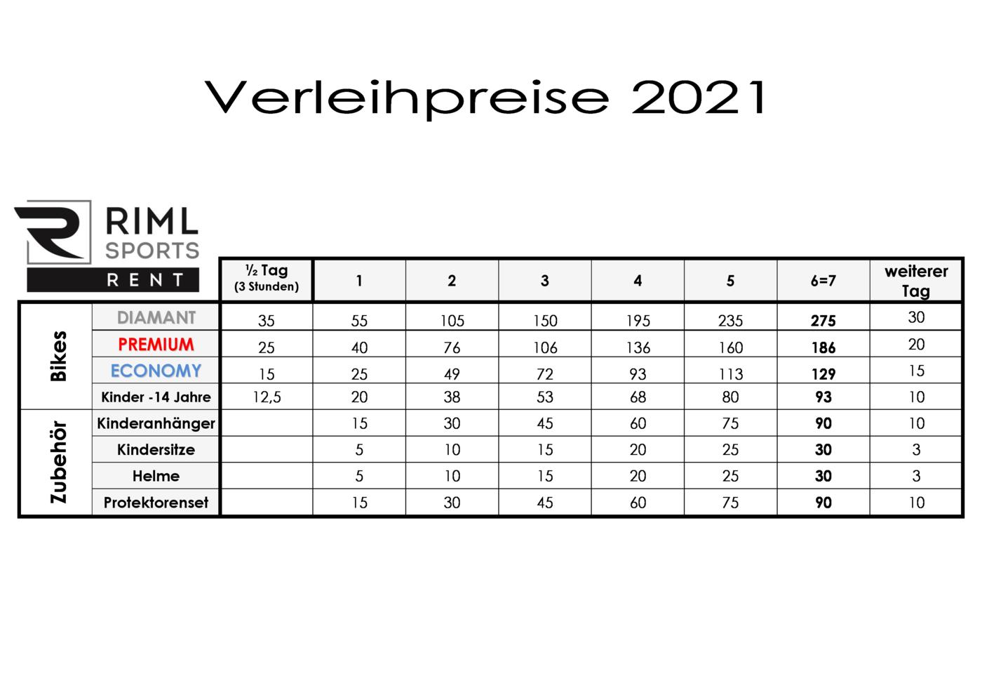 VL-Preise Bike-So21